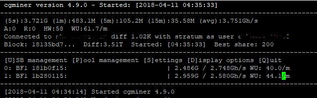 install dan mining menggunakan CGMINER dengan device ASIC